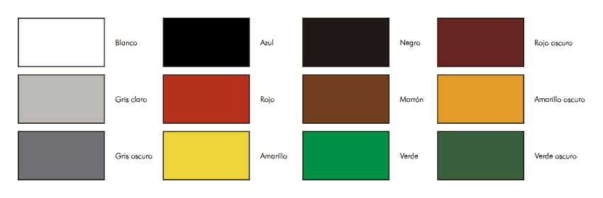 Colores para pintado de maderas