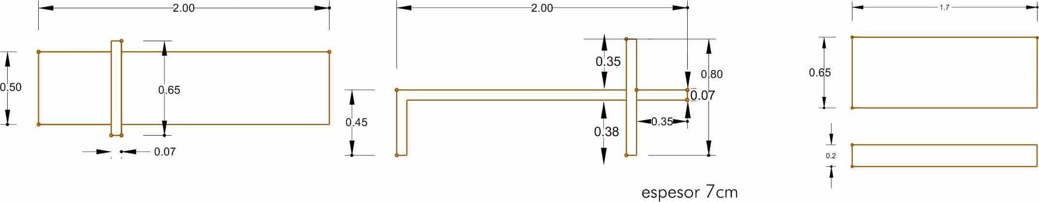 Banco Modelo 3 - Acotaciones