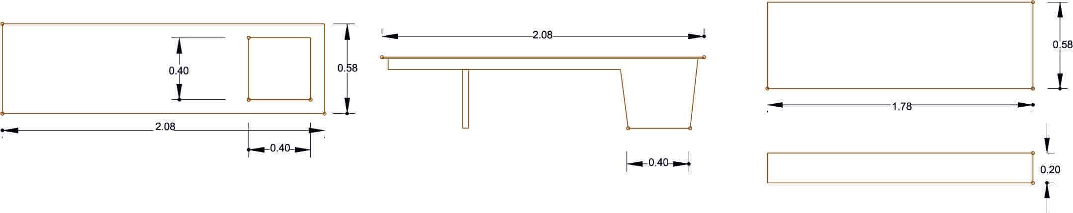 Banco Modelo 5 - Acotaciones