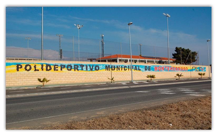 Mural Polideportivo Municipal de Montehermoso