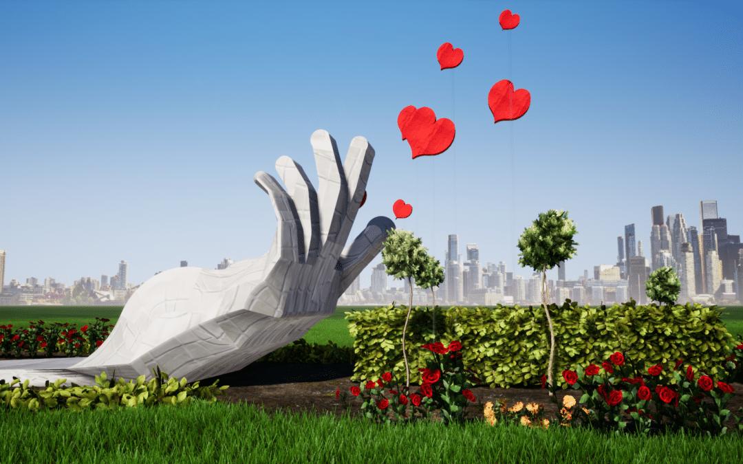 Esculturas en honor a ellos: los fallecidos, los niños y el personal sanitario