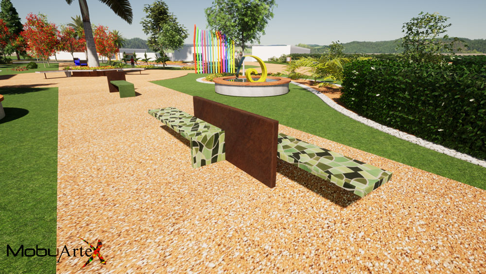 Banco Modelo 2 - Vista 3D