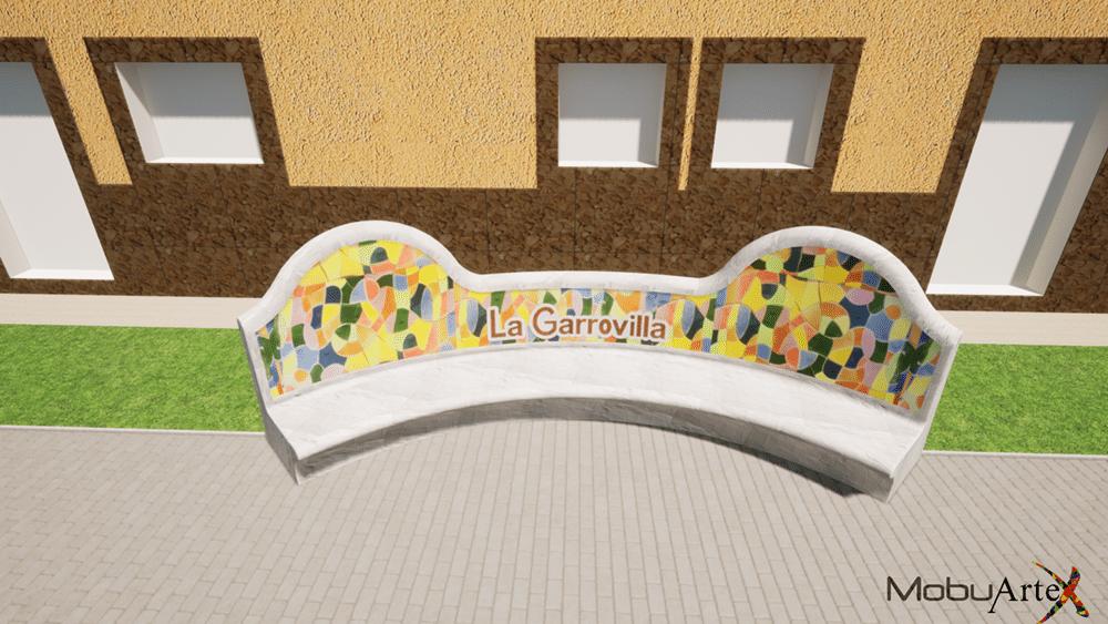"""Banco Modelo """"in situ"""" - Vista 3D"""