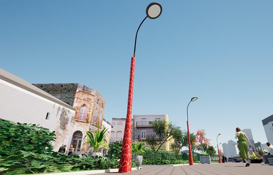 Farolas para Mobiliario Urbano
