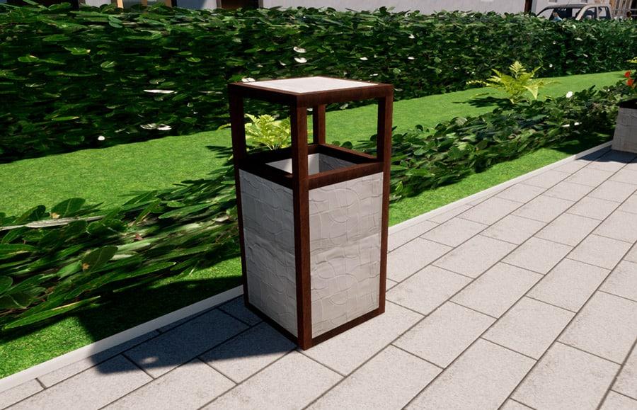 Mobiliario urbano papeleras