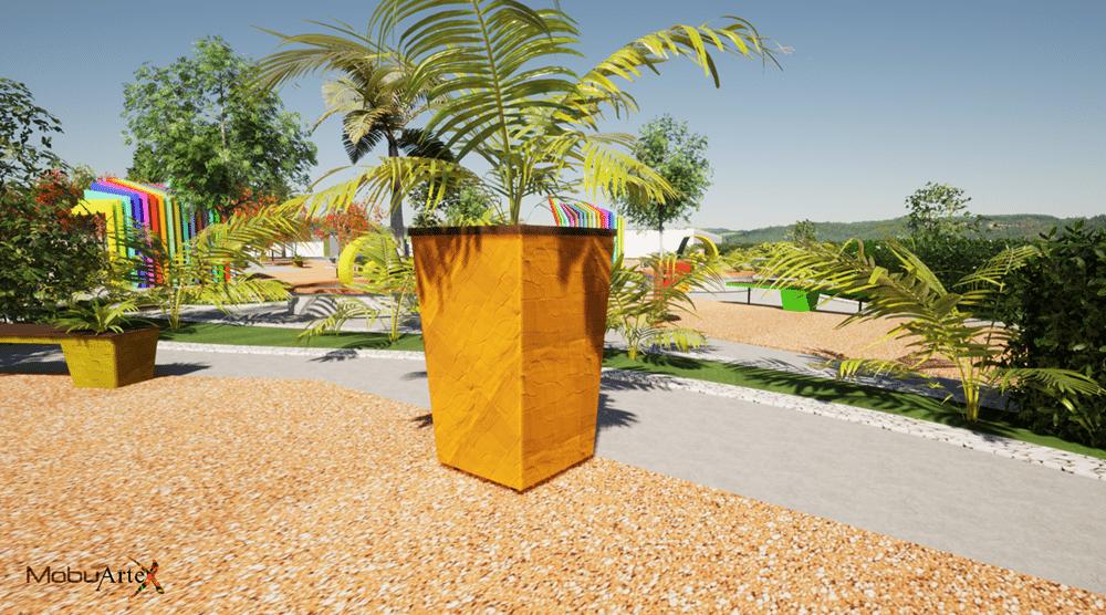 Banco Modelo 1 - Vista 3D