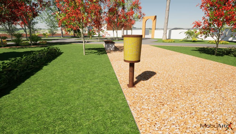 Papelera Modelo 2 - Vista 3D