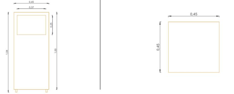 Papelera Modelo 4 - Acotaciones